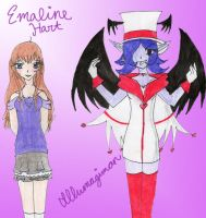 DV-Emaline and Illumagimon by Hamstertastic