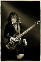 Angus Young by Artumus-Gonzo