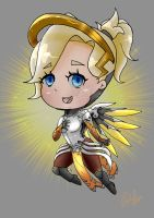 Overwatch Mercy Chibi by Elvishprincess25