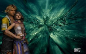 Yuna and Tidus by viewdj