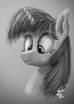 Twilight Sparkle Grayscale by D0ubleRainb0wDash