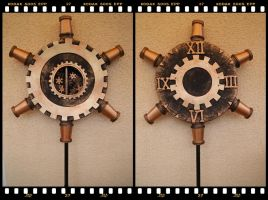 Steampunk Clock by Deathly-Sora