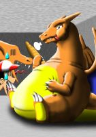 Fat Charizard - Pokelai by Devious-Inflation