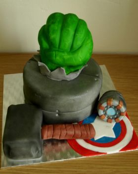 Avengers Cake by sparks1992