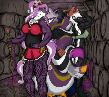 CONTEST ENTRY, skunk villainesses by animagusurreal