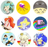 dolphinwing Button Designs by kagayakicosmos
