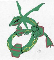 Rayquaza by Midnight-The-Cat
