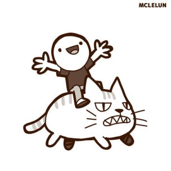 happy cat rider by mclelun