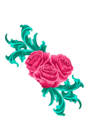 Ornamented roses _Finished by damean92