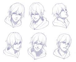 boy face sketch practice by THEONEG