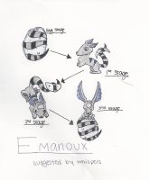 EggCave Creature Suggestion - The Emanoux [REDRAW] by bluegumibear