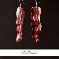 Bacon earrings by lidia-art