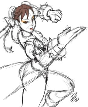 Chun Li Sketch by paulo-peres