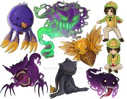 Pokemon Stickers 3 by Leashe