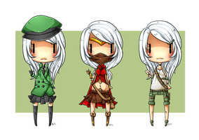 Trade: Hana outfit designs by Scratchbite