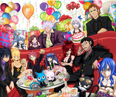 Fairy Tail Collab- Happy birthday Hiro Mashima!! by Futuretabs