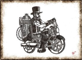 Steam Punk Chooper by Giosuke