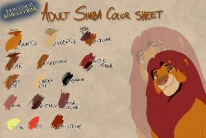 Adult SP Simba color sheet by Takadk