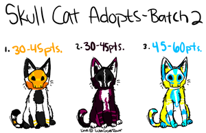 Skull Cats 2 CLOSED by TheAdoptShop