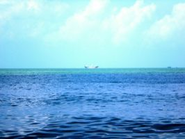 ship in blue by limegreenguitar