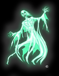 Drawlloween2015: Ghost by ProdigyDuck