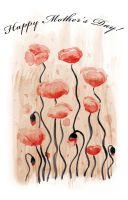 Mothers Day Poppies by Caitiekabob