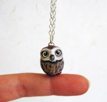 Baby Owl necklace by FlowerLandBySaraMax