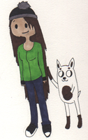 Uma The Dog And Mica The Human by Ask-Ze-Mole