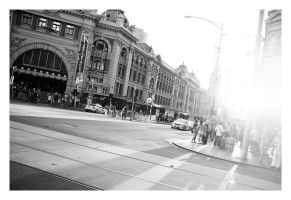 Flinders St Sunset by Cameron-Jung