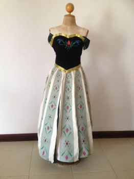 Anna's coronation dress (front) by cilia9