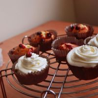 cranberry cupcakes by artahh