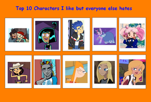 My Top 10 Characters I like by AriaVampireRose7