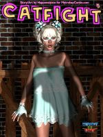 Catfight Cover for issue 5 by Happenstance6