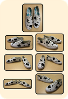 Cow Spot Shoes by brumal
