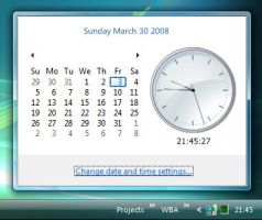 Vista Rainmeter Clock preview by fediaFedia