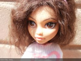Monster high custom repaint mh lifelike commission by Rach-Hells-Dollhaus