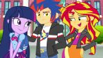 Twilight and Sunset Shimmer Loves Shadow Sentry by CyrilSmith