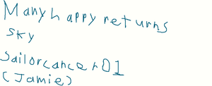 a birthday card for sky by sailorcancer01