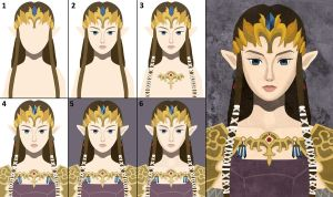 Progression: Faux-Paint Zelda by ever-so-excited