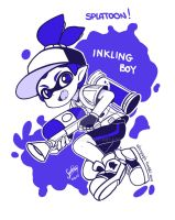 Splatoon - Inkling boy [NO COLOR] by SandraGH