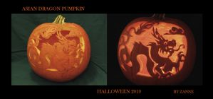 Asian Dragon Pumpkin by Zanne