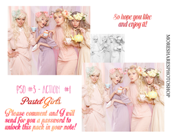 Pastel Girls - Pack PSD And Action by MoreSharesPhotoshop
