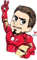 RDJ's Tony Stark by Hallpen