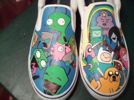 Invader Time Custom Shoes by Miss-Melis