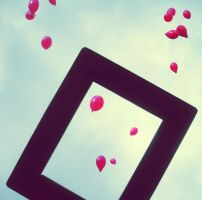 The Ballons and The Frame by ximebetty