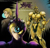 LINEART Guyver II generation -coloring by Lucithea