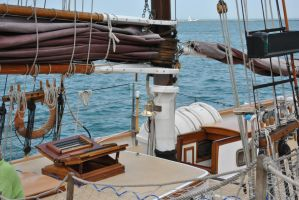 sailboat deck by bebesdupoire