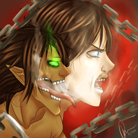 Eren TITAN (OU Contest) by curiousSOUL