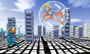 Invisible Woman vs Supergirl by blunose2772