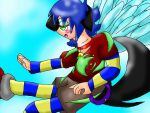 Zaru's whitish blue wings by Zack-Ocs